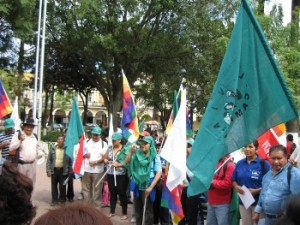 Cochabamba'da 17 Nisan eylemi