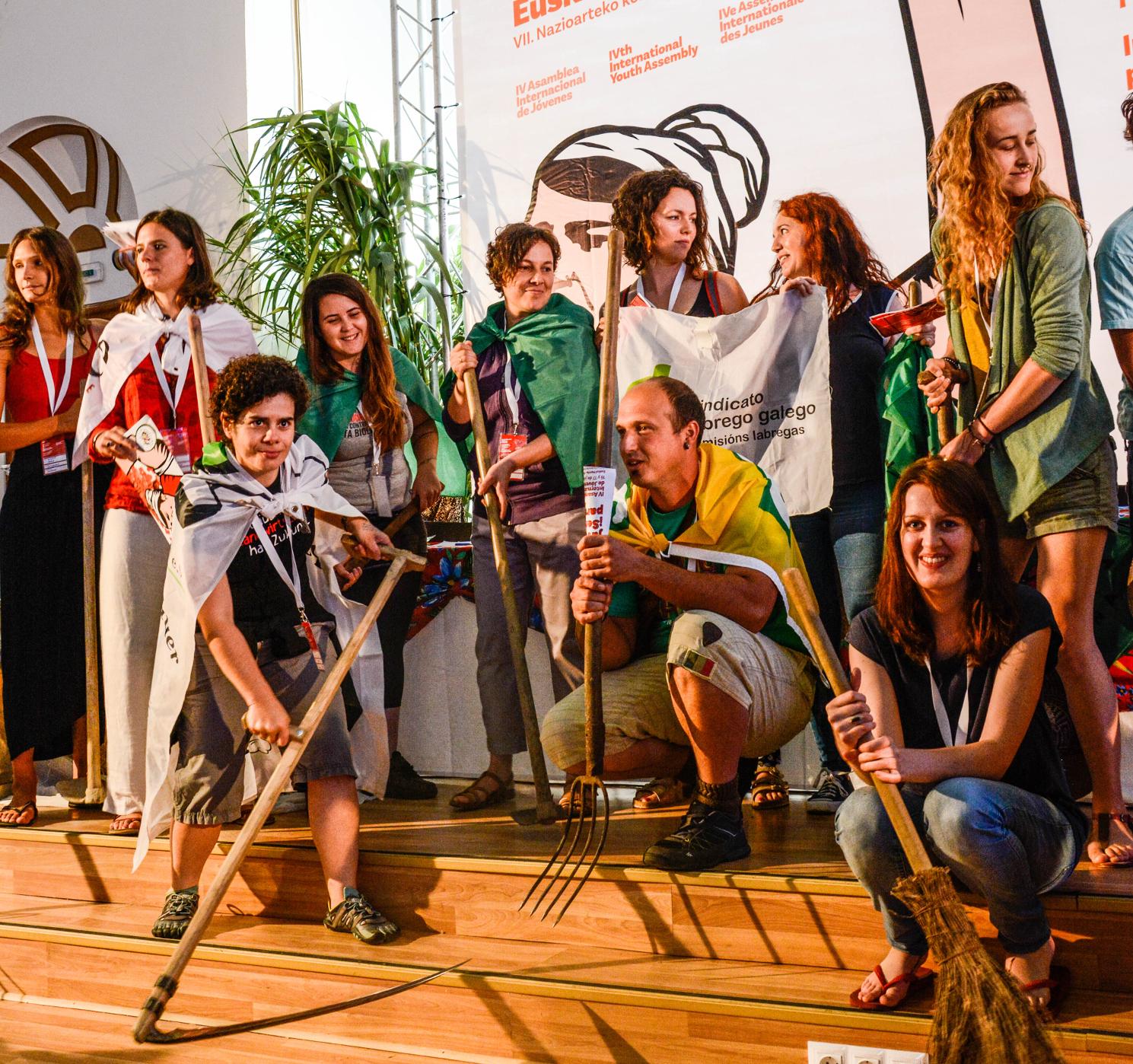Dünyanın Genç Köylüleri Bask Ülkesi'nde Dördüncü Uluslararası Gençlik Meclisi'ni gerçekleştiriyor!