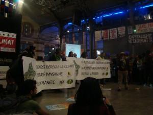 COP 21 Via campesina eylemi