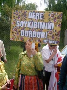Ankara'da HES protestosu