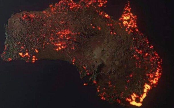 Bir kıta yanıyor
