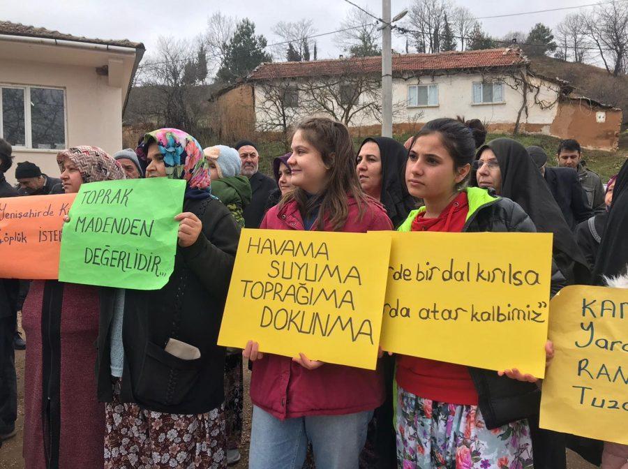 Bursa'da maden ocağı tepkisi!