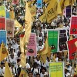 Endonezya'da köylüler toprak için yürüdü