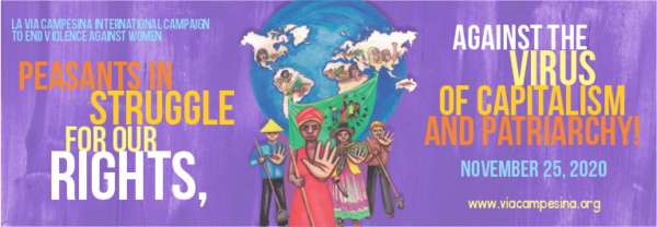 La Via Campesina'nın Kadınlara Karşı Şiddetin Sonlandırılması Kampanyası