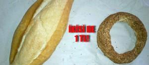 Ekmek 1 lira oluyor