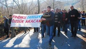 Fındıklı'da Dere Islah Çalışması Protesto Edildi
