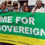 Köylüler Havalimanı projesine karşı eylemde