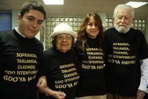 GDO'ya karşı tişörtlü eylem !