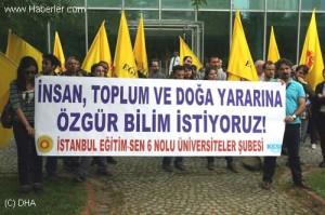 """İTÜ'de """"GDO"""" Protestosu"""