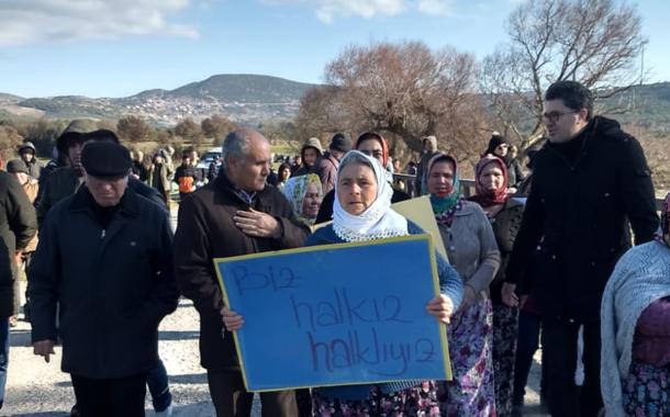 Ayvalık Halkı Karakoç Barajı'na karşı tek ses: Toprağıma Suyuma dokunma !