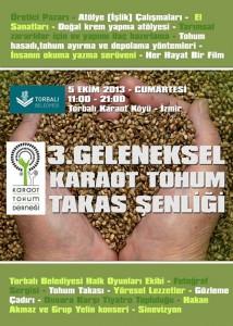 Tohum ve gıda özgürlüğü için Karaot'a!