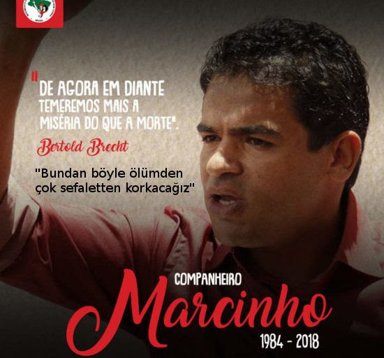 La Via Campesina, Marcinho'nun katledilmesini kınadı