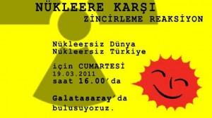 İstanbul'da nükleere karşı büyük buluşma Cumartesi günü