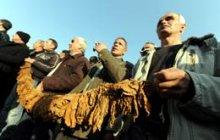 Makedonya'da çiftçiler eylemde