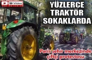 Çiftçilerin Paris eylemi/video