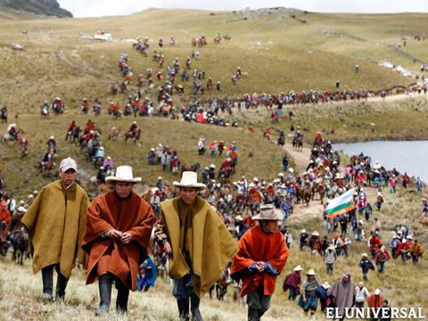 Perululardan, altın madeni projesine karşı yürüdü