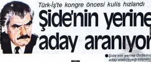 TÜRK-İŞ 12 Eylül yasaklarına sarıldı