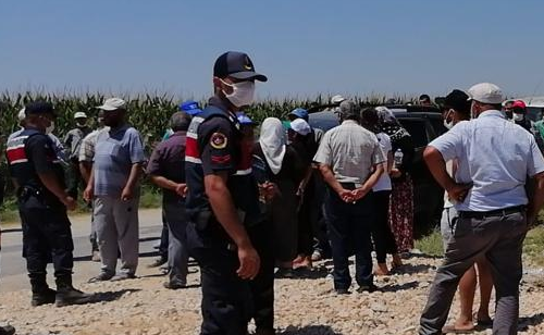 Salihli Çapaklı'da santral protestosuna jandarma müdahalesi
