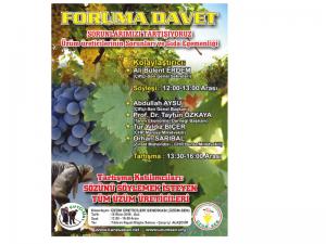 """Üzüm-Sen forumu: """"Üzüm Üreticilerinin Sorunları ve Gıda Egemenliği"""""""