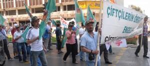 1 Mayıs'ta çiftçiler de yürüdü