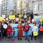 Yüzlerce Yusufelili Beyoğlu'nda haykırdı: Ander kalsun HES'ler