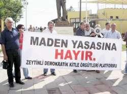 Zeytinli'de zeytin yasası protestosu